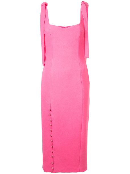 Rebecca Vallance dress midi dress women midi purple pink