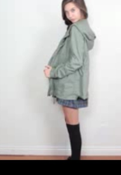 jacket green khaki cute army jacket army olive green military jacket tartan youtuber