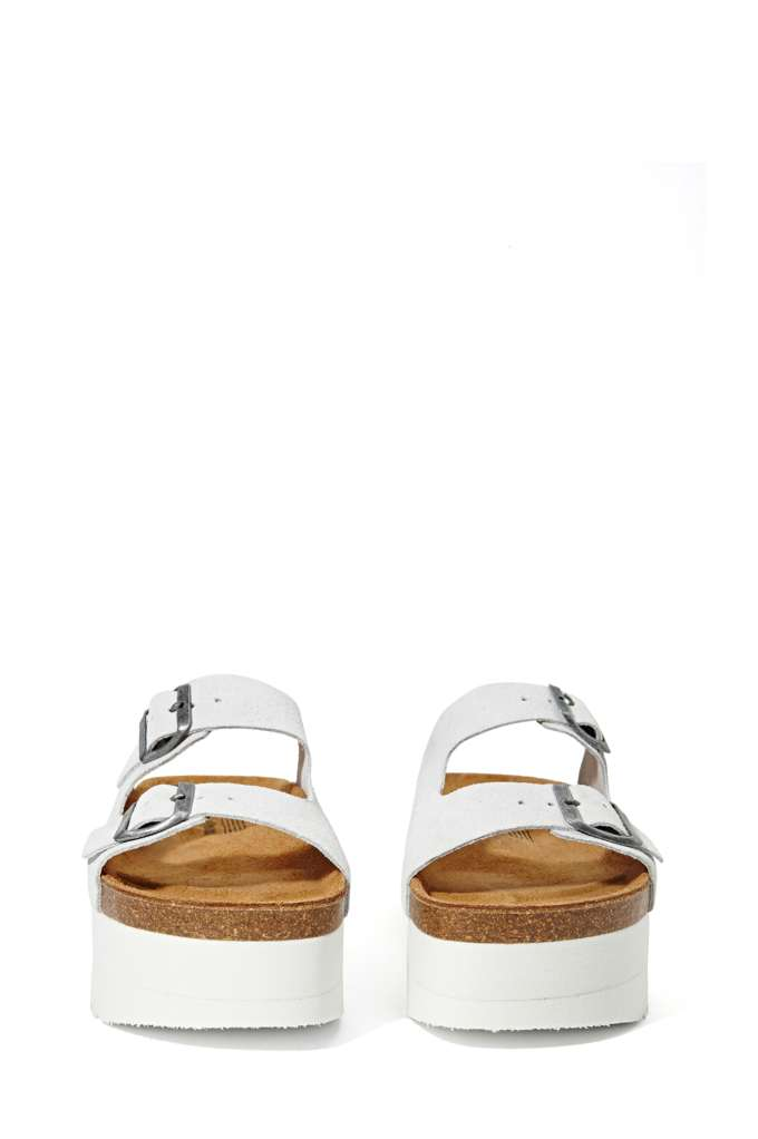Jeffrey Campbell Aurelia Platform Sandal - White Suede at Nasty Gal