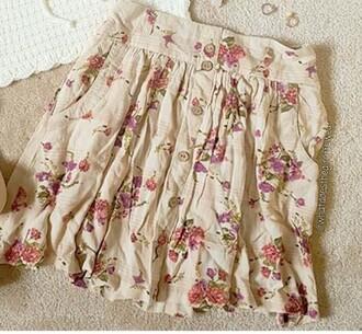 skirt button up skirt floral