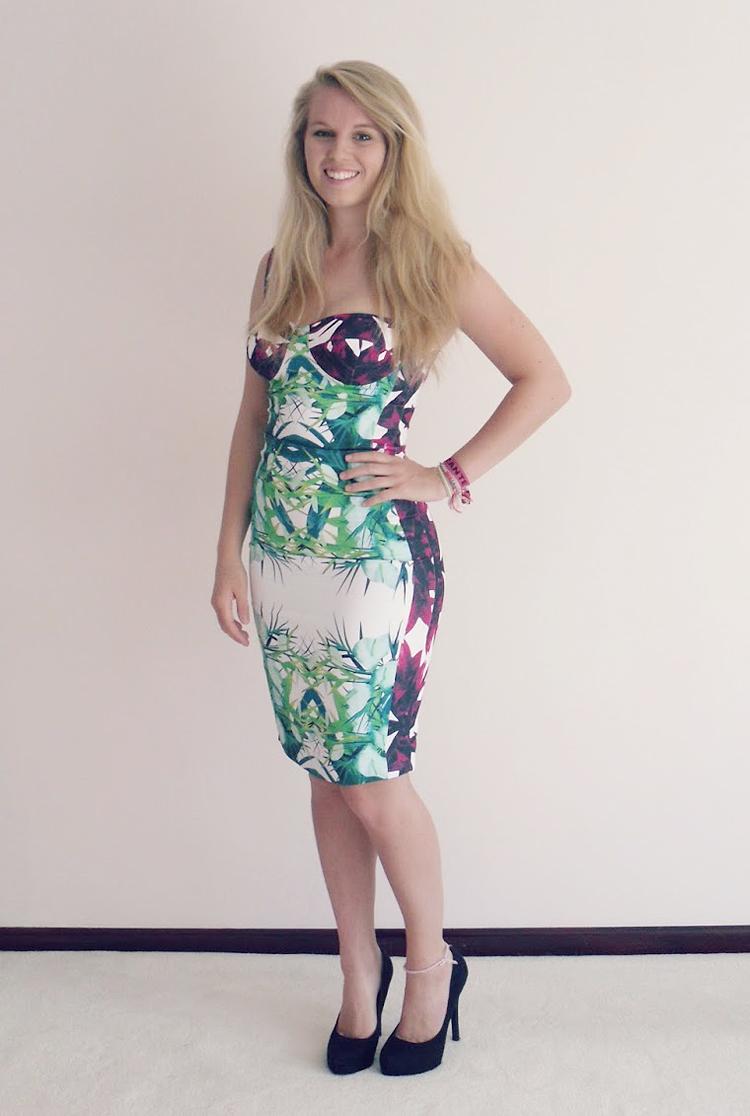 Multicolor Flower Strap Sexy Bandage Dress H666$139