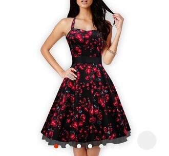 dress floral dress retro