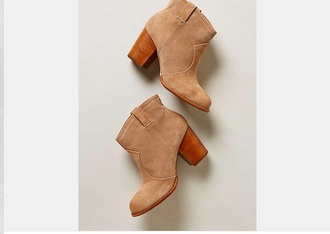 shoes tan booties boots beige shoes