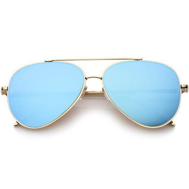 7f148ab4e sunglasses, aviator sunglasses, blue, gold, aviator sunglasses, blue ...