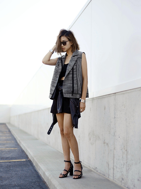 ordinary people shoes jacket jewels skirt sunglasses