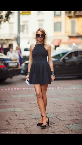 shoes black heels straps strappy heels