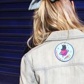 jacket,patch,embellished denim,embroidered,gift ideas,science,stars,black boots,denim,denim jacket,galaxy print