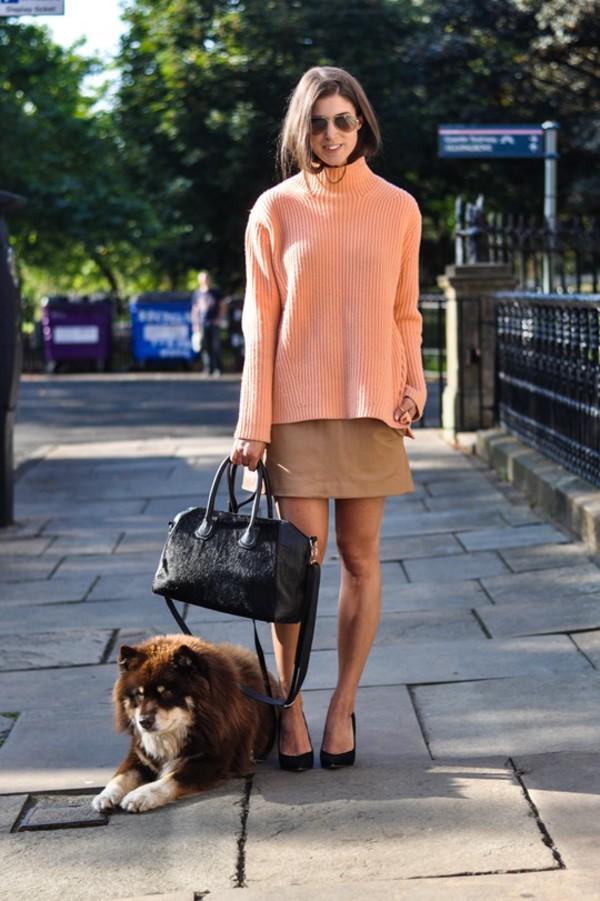 thank fifi blogger bag sweater skirt shoes coat
