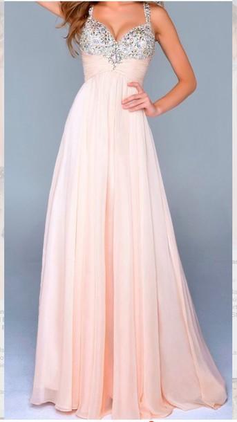 dress prom long pink dress light pink