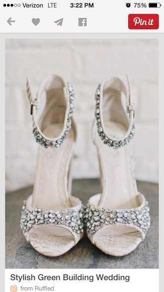 white high heels wedding shoes shoes fashion ankle strap heels rhinestones style open toes open toe high heels
