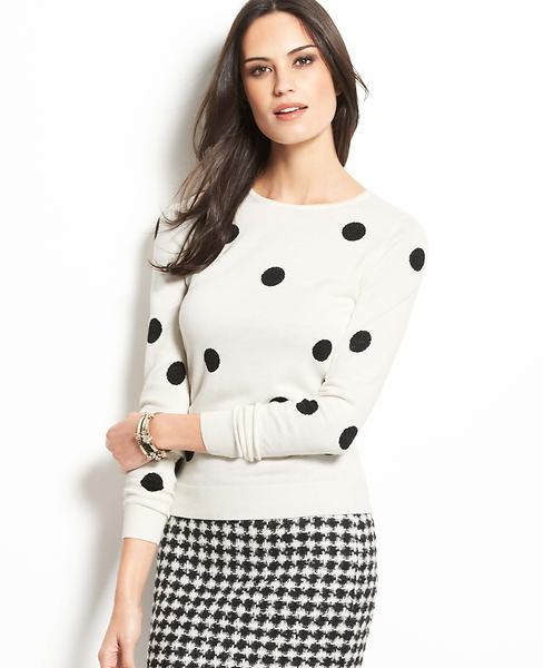 Optic Dot Sweater | Ann Taylor