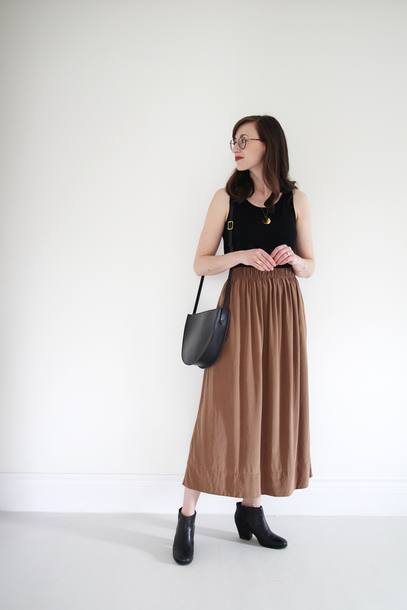 stylebee blogger coat jewels tank top dress skirt shoes bag