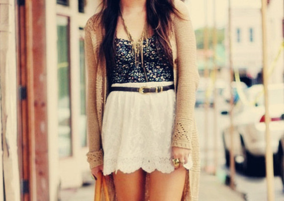 jewels tank top skirt belt summer vest