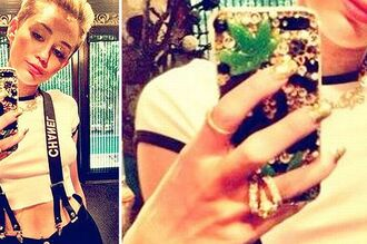 jewels miley cyrus phone cover weed chanel ipadiphonecase.com