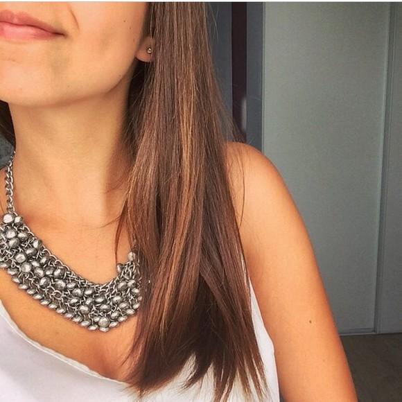 jewels cute crystal quartz necklace white silver swarovski necklace handmade silver necklaces top tank top