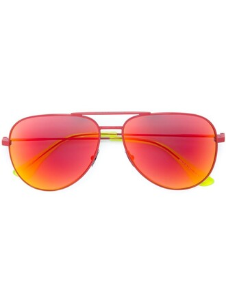 classic surf sunglasses red