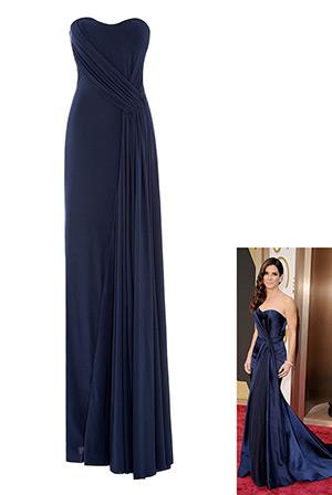 Bustier Column Dress in the style of Sandra Bullock