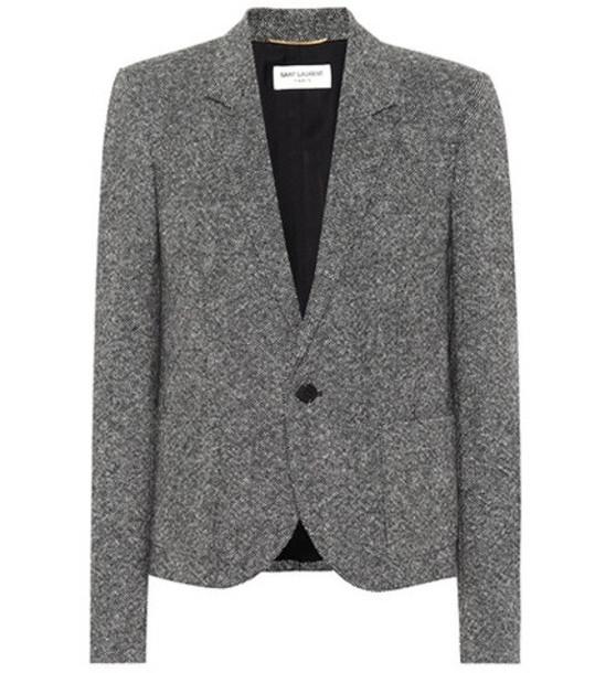 Saint Laurent Wool blazer in grey