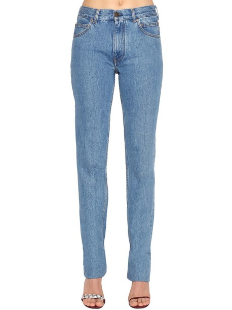 CALVIN KLEIN 205W39NYC Mid Rise Cotton Denim Jeans in blue