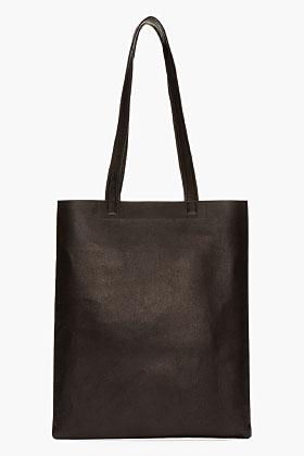 Acne Studios Black Leather Minimalist Rumor Bag for women | SSENSE