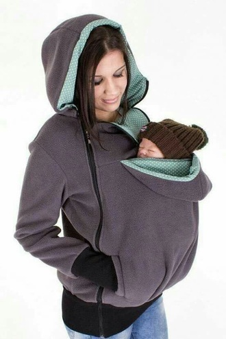 sweater grey maternity baby turquoise