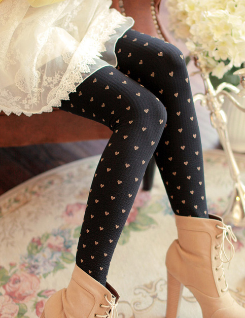 Knit heart leggings · fashion struck · online store powered by storenvy