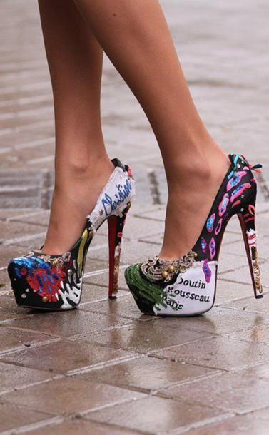shoes high heels clothes