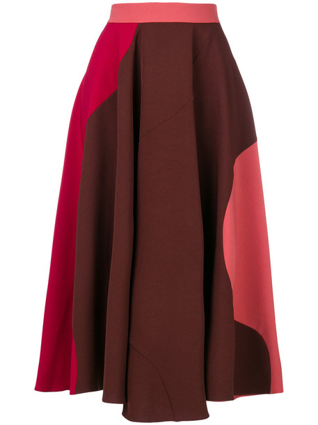 Roksanda skirt women spandex purple pink