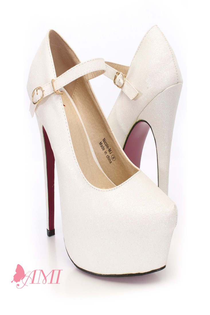 Mary Jane White Heels