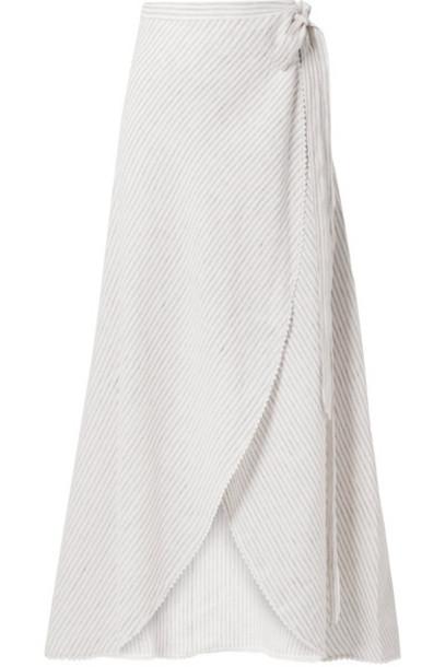skirt maxi skirt wrap maxi skirt maxi white crochet off-white