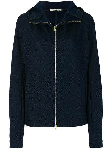 Odeeh coat zip women cotton blue