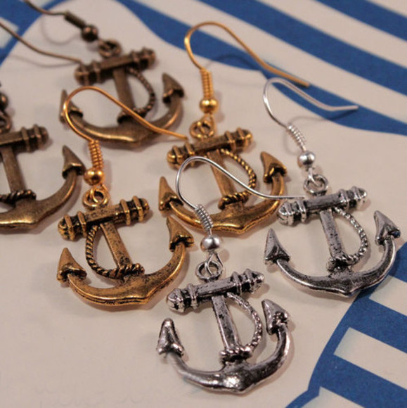 jewels anchor anchor jewelry hook jewlry women charming cool anchor earrings