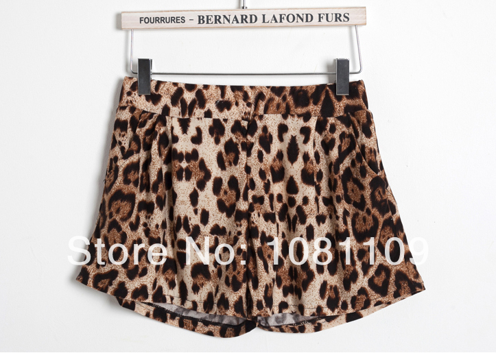 Free shipping! High quality! 2014 new women's wild leopard shorts-in Shorts from Apparel & Accessories on Aliexpress.com