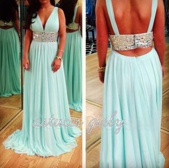 party outfits summer dress classy style prom dress sexy dress party dress maxi dress diamonds deep v neck dress maxi blue dress long dress long sleeve dress sleeveless turquoise long light blue long prom dress long sleeves