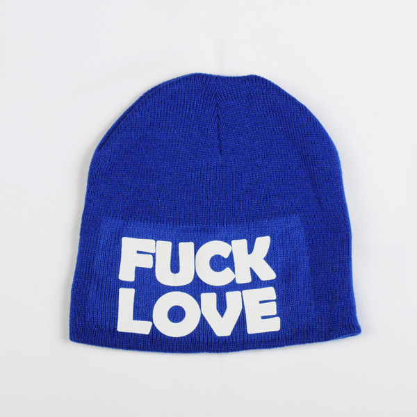 hat fuck off pink by victorias secret beanie