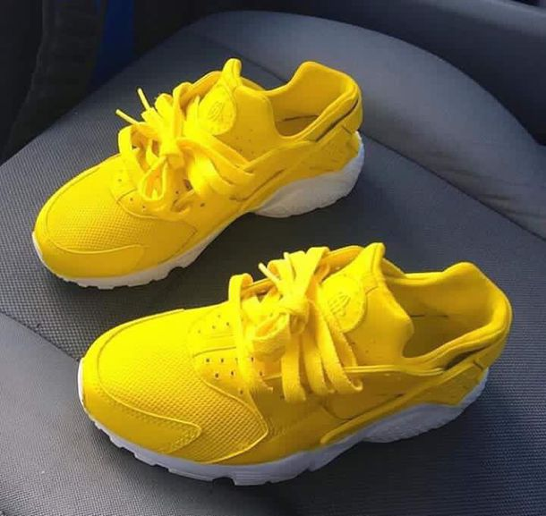 shoes yellow kids fashion yellow sneakers low top sneakers huarache nike  sneakers dope dope shoes yellow