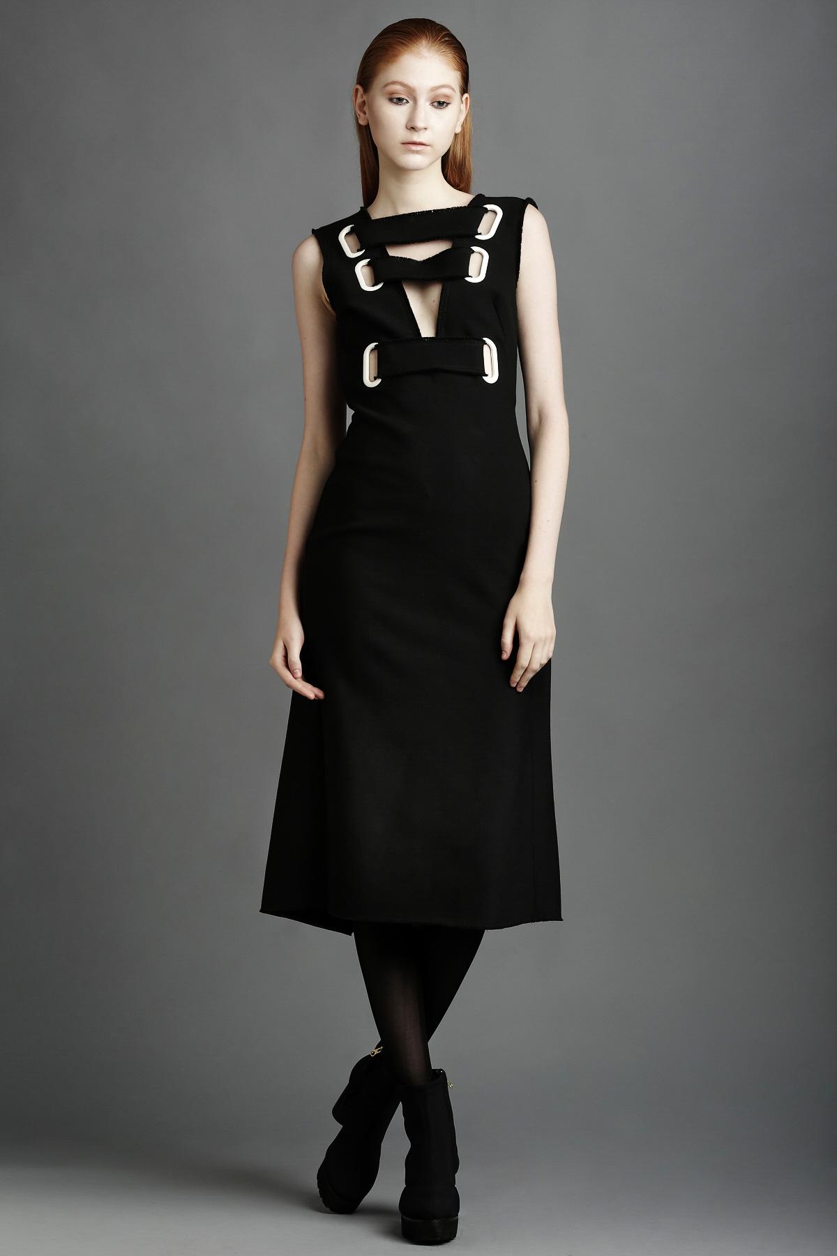 Yulia Kondranina Open Back Eyelet Striped Dress - WOMEN - OPENING CEREMONY