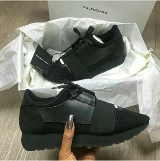 shoes sneakers black black sneakers balenciaga balenciaga leather sneakerss