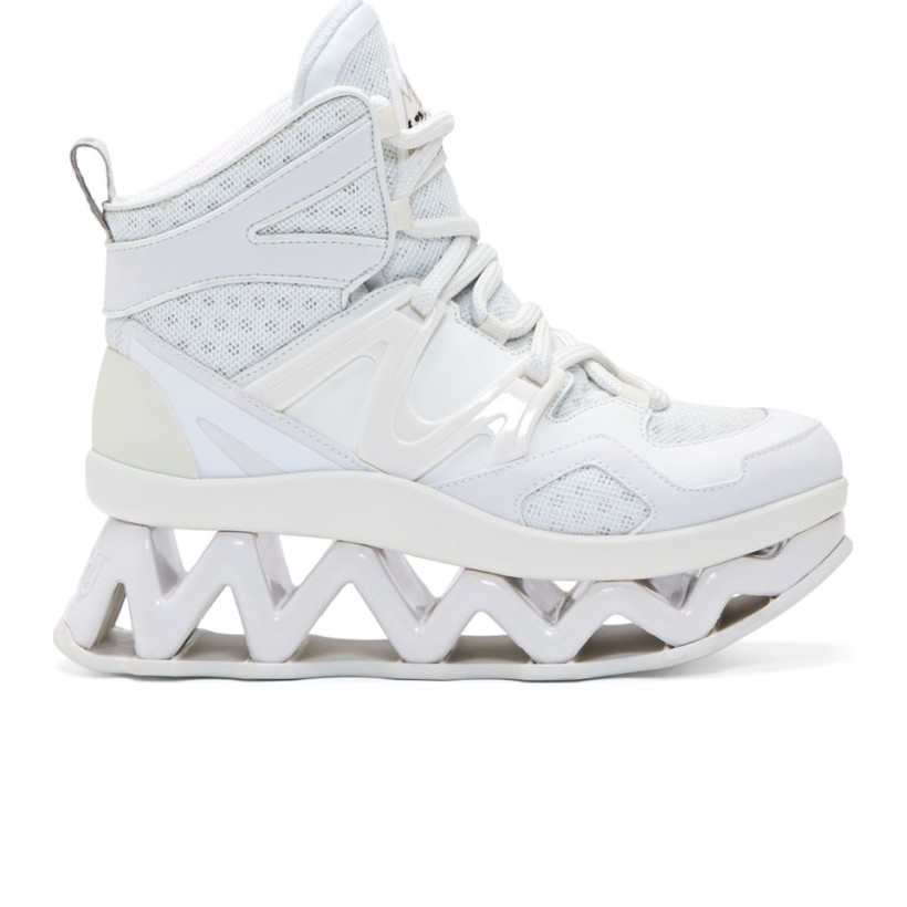 Marc by Marc Jacobs - White Cut-Out Platform Ninja Sneakers