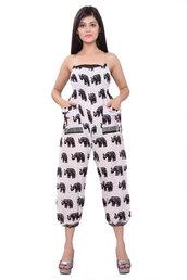 romper,boho pants,jumpsuit,elephant print jumpsuit,maternity pants,hippie pants,beach dress,burningman pants,sweatpants,beachwear,gypsy pants,comfy wear clothing,black and white dress,harem pants