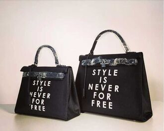 bag style is never for free classy dope printed bag bad bitch