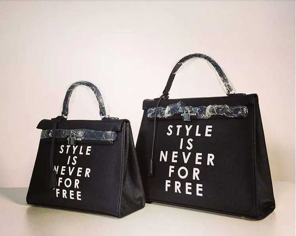 bag style is never for free classy dope printed bag bad bitches link up