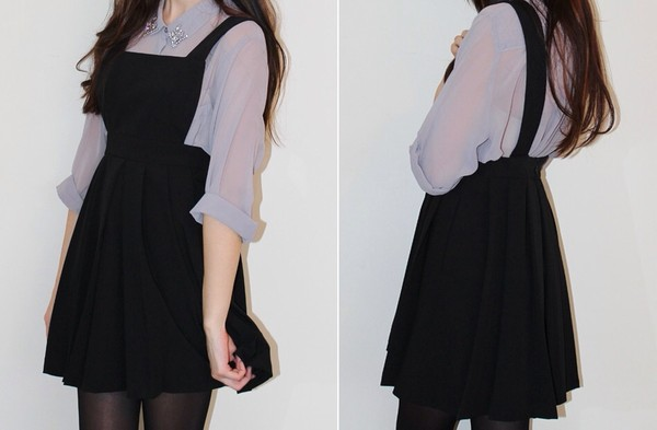 dress pinafore pinafore dress black