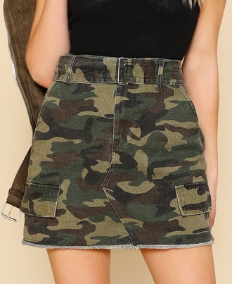 skirt girly camouflage mini mini skirt