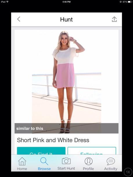 dress pink dress cute dress