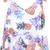 White Sleeveless Pineapple Print Chiffon Vest - Sheinside.com