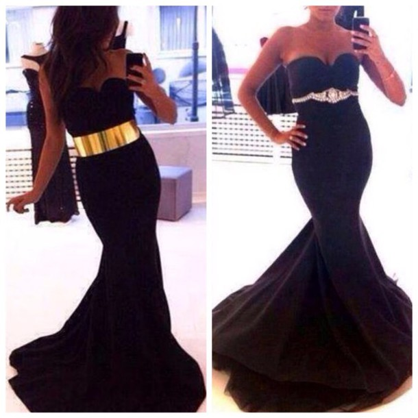 prom dress, party dress, party, long dress, black dress, soul, style ...