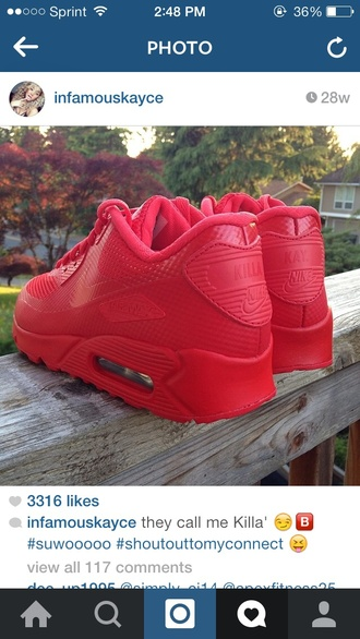 shoes red shoes air max 90 air max air max 90 hyperfuse style fashion