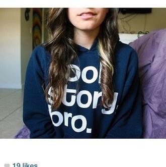 shirt blue sweatshirt cool story bro cool story bro crewneck cute tumblr tumblr girl