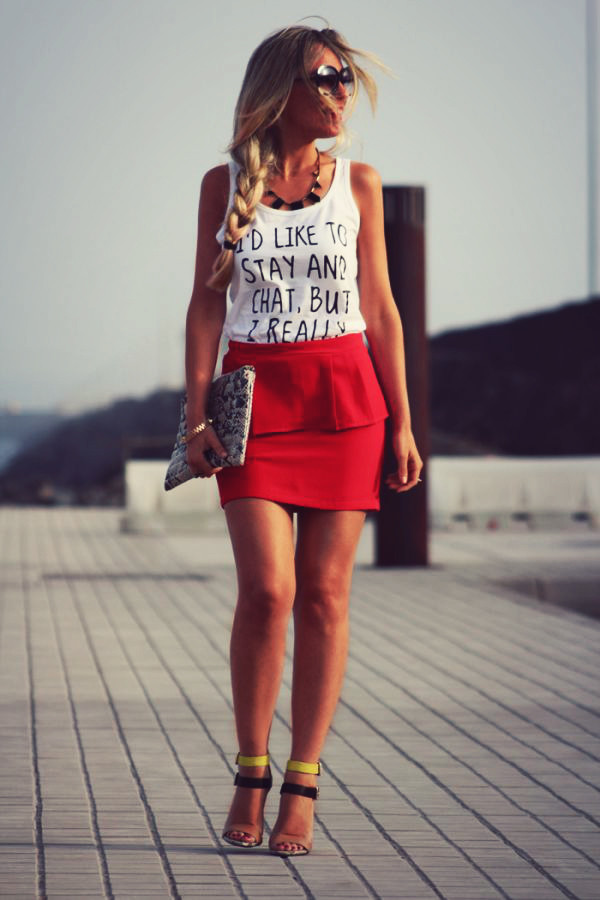 quote on it t-shirt peplum
